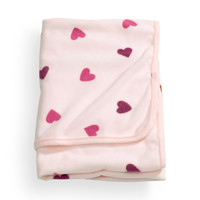 H&M - Patterned Fleece Blanket - Light pink