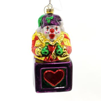 Holiday Ornaments Jester In A Box Glass Ornament