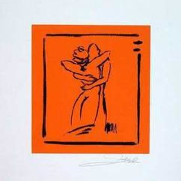 Love - Light Orange - Hand Signed Open Serigraph