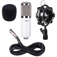 BM800 Condenser Microphone Shock Mount Home Studio Sound Audio Record Mic White