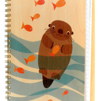 Otter School of Fish * Journal by Night Owl Paper Goods