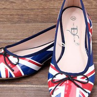 Shoes UK Flag from guipure