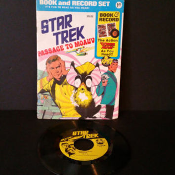 Vintage Star Trek Passage to Moauv Book and Record Set Power Records 45 RPM 1975