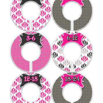 PRE MADE Baby Closet Dividers Nursery Closet Dividers Baby Clothes Divider Custom Closet Divider Baby Shower Gift 4