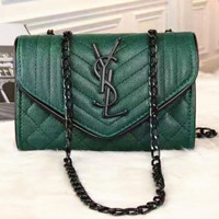 YSL Women Shopping Leather Metal Chain Crossbody Satchel Shoulder Bag H-LLBPFSH