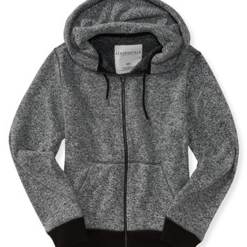 Aeropostale  Marled Sweater Knit Full-Zip Hoodie