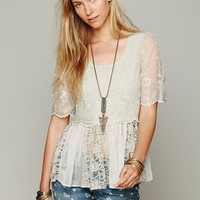 Free People FP X Viola Embroidered Top