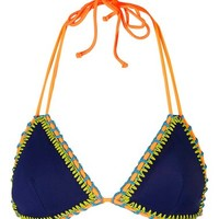 Topshop Crochet Trim Triangle Bikini Top | Nordstrom