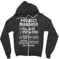 Project Manager Zipper Hoodie