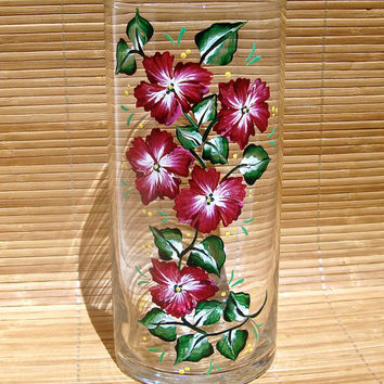 Shop Hand Painted Flower Vases On Wanelo