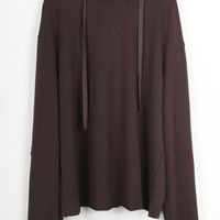 Cupshe Magic Touch Brown Hooded Top