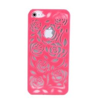 Rose Hollow Out Relief Hard Cover Case for Iphone 5