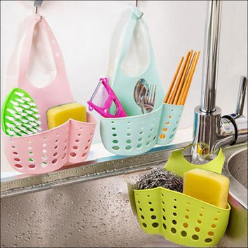 Portable Hanging Drain Bag Basket Bath Storage Tools Sink Toothbrush Holder Bathroom Accessories Holder Soap Kitchen Dish Cloth