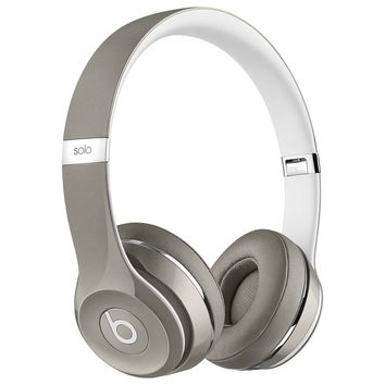 Beats by Dr. Dre Solo2 Luxe Edition On-Ear Foldable Stereo Headphones - Silver