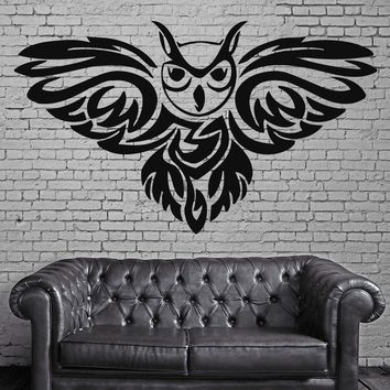 Owl Night Bird  Scary Horror Funny Fairytale  Wall Art Decor Vinyl Sticker Unique Gift z504