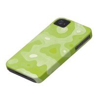 Spring Green and White Abstract Pattern iPhone 4 Case-Mate Cases