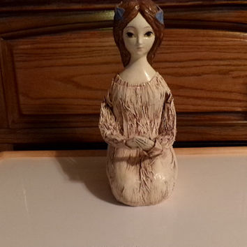 Hong Horizons Paper Mache Kneeling Doll from the 1960's This Doll is a Maruyoshi Originals, but there are no tags. Home Decor, gift for her