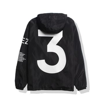 cc hcxx Black Yeezy Windbreaker Jacket