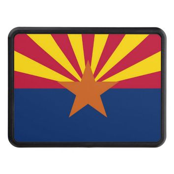 Patriotic hitch cover with Flag of Arizona
