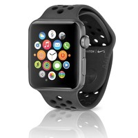 Apple Watch Nike+ Smartwatch 42mm Space Gray Case w/ Sport Band Anthracite/Black