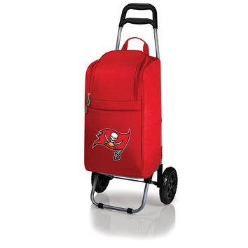 Tampa Bay Buccaneers - Cart Cooler with Trolley (Red)