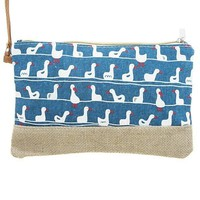 Swimming duck clutch bag