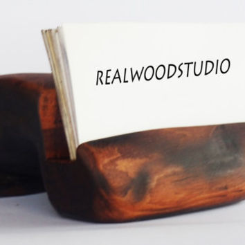 Wooden Business Card Holder, Rustic Business Card Holder, Wooden Card Holder, Birthday Gift, Business Card Stand