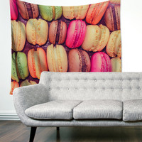 Rainbow Macaroons Multi Color Unique Dorm Home Decor Wall Art Tapestry