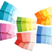 Napkins - Paint Chip Napkins - Set of 6 Colors - bright summer rainbow colours large size