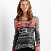 Aeropostale  Neon Pop Statement Sweater