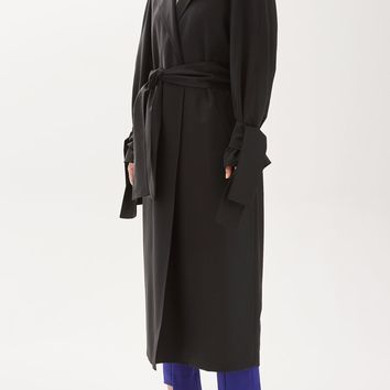 Tailored Tie Sleeve Duster Coat by Boutique - Jackets & Coats - Clothing