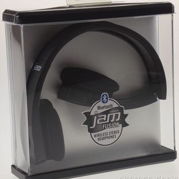 HMDX Bluetooth Jam Fusion Wireless Foldable Stereo Headphones Black HX-HP610BK