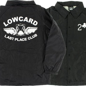 Lowcard Last Place Club Coaches Jacket Medium Black