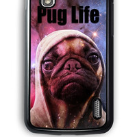 Google Nexus 4 Case - Hard (PC) Cover with Funny Pug Life On Galaxy Plastic Case Design