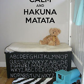 Wall Vinyl Sticker Decals Art Mural Hakuna Matata Words AL437