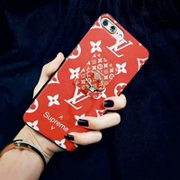 LV Supreme red Fashion Sale iPhone Phone Cover Case For iphone 6 6s 6plus 6s-plus 7 7plus H-AGG-CZDL