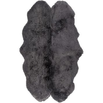 Wade Logan Sheepskin Black Area Rug & Reviews | Wayfair