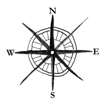 Compass Rose Temporary Tattoo (set of 2)