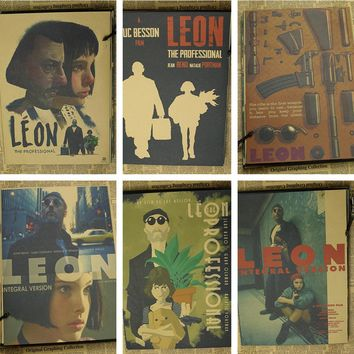 42*30cm leon the professional poster classic old movie vintage poster retro nostalgia kraft paper wall stickers Home decor