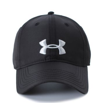 Under Armour Summer new fashion summer embroidery couple sports baseball cap Black