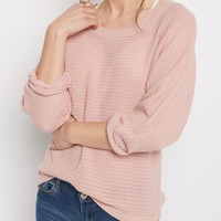 Mauve Button Back Dolman Sweater | Sweaters | rue21