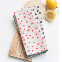 Anna Joyce: Stars and Dots Tea Towels, Set of 2