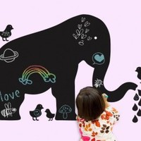 Wall Candy Baby Elephant Chalkboard Wall decals by Couture Deco