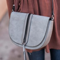 Zip It Good Light Grey Purse