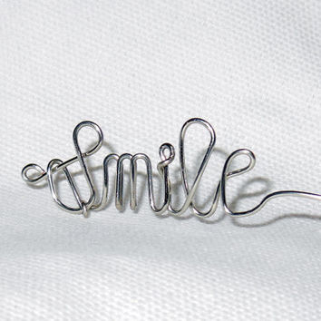 Smile Wire Word Ring