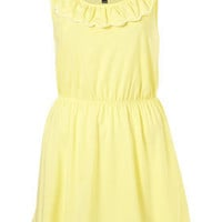 Petite Yellow Embroidered Scallop Tunic - New In - Topshop