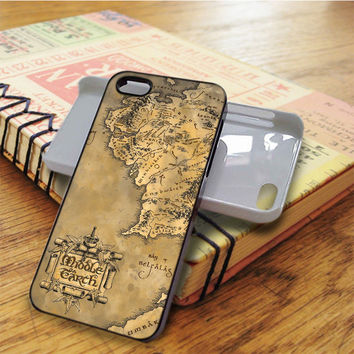 Middle Earth World Map iPhone 5C Case