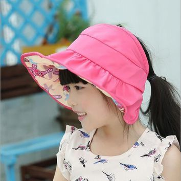 KLV Kids Summer Sun Foldable Waterproof Quick Hat