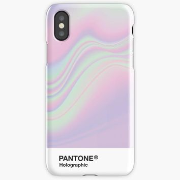 H I P A B Holographic Iridescent Pantone Aesthetic iPhone X Case