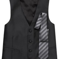 Formalwear - Calvin Klein Silver Tie and Formal Vest Set - Men's Wearhouse